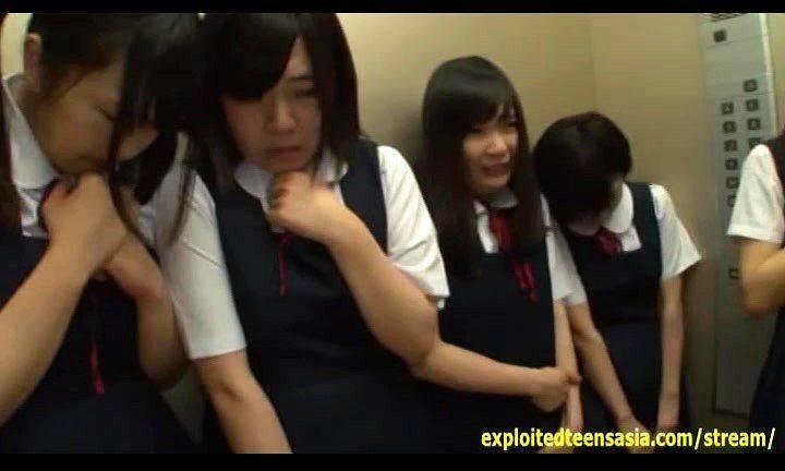 Japanese girl elevator