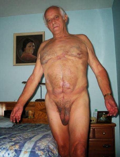 Naked gay senior men are