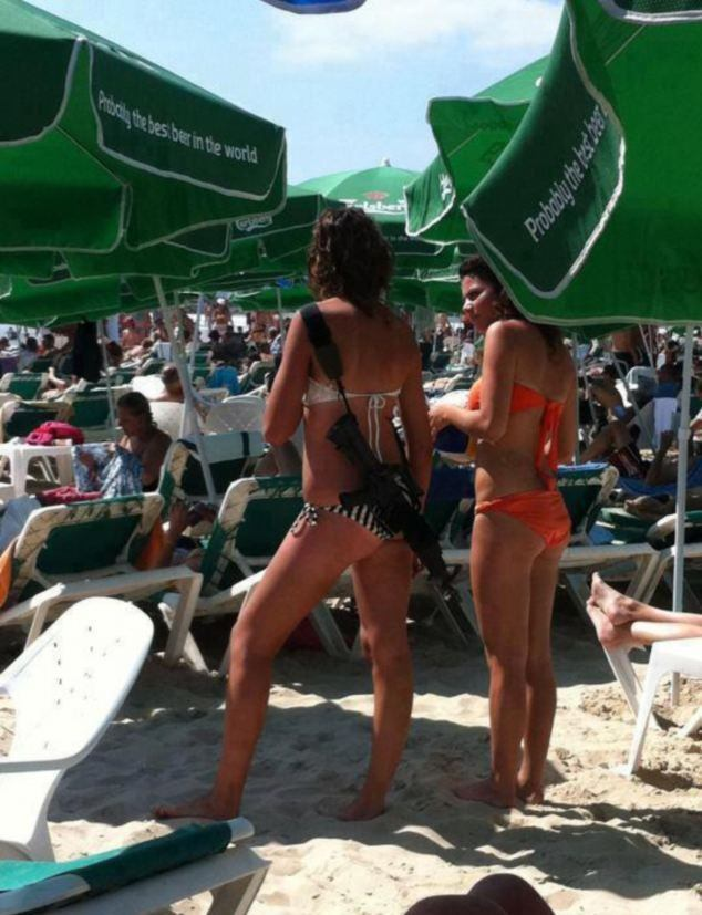 Creature reccomend Israeli female soldiers in bikinis