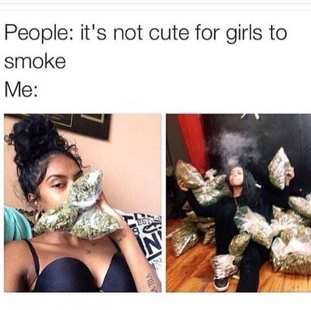 Girl smoke weed then fucks