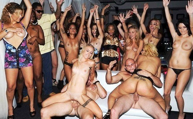 Crazy college party porn
