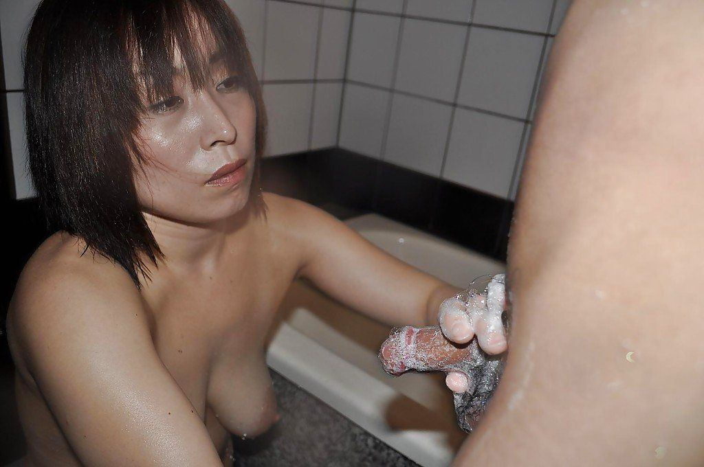 Yellowjacket reccomend Mature asian tied up sucking cock