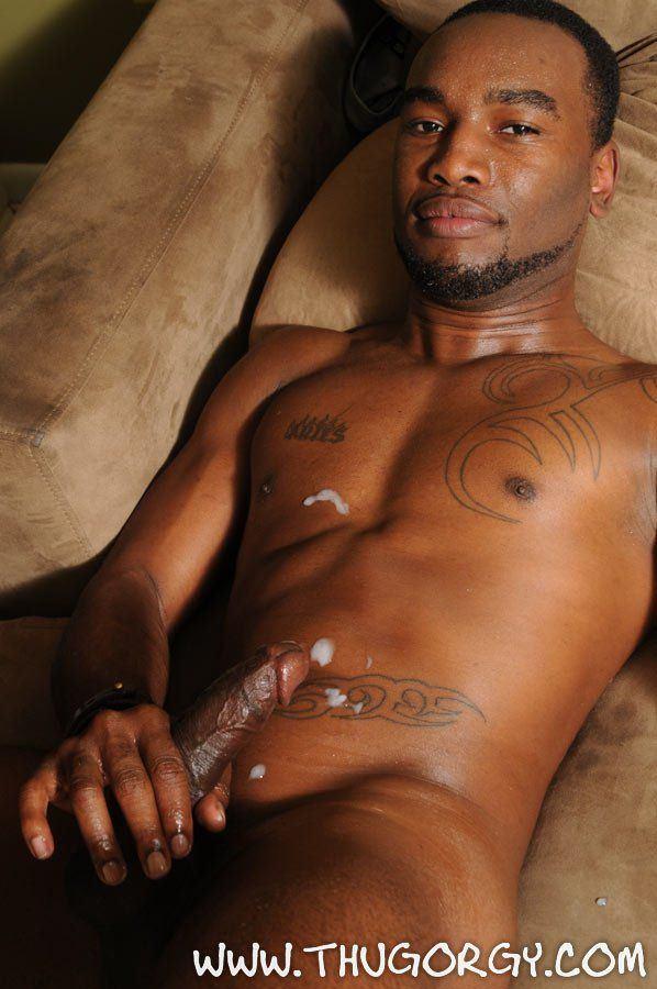Gay black thug gangbang