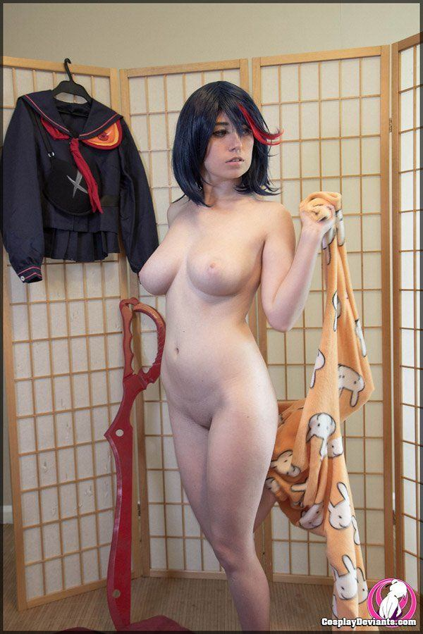 Naked anime girl in public